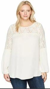 London Times Plus Lace Blouse Shirt Top 3X